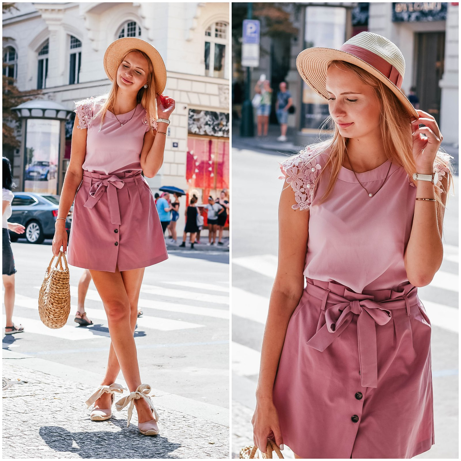 All pink summer outfit
