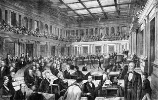 "Vintage print ""The Senate of the United States"" publis"