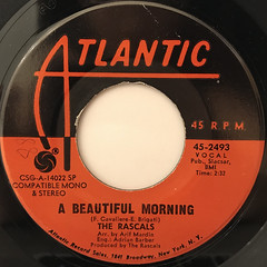 THE RASCALS:A BEAUTIFUL MORNING(LABEL SIDE-A)