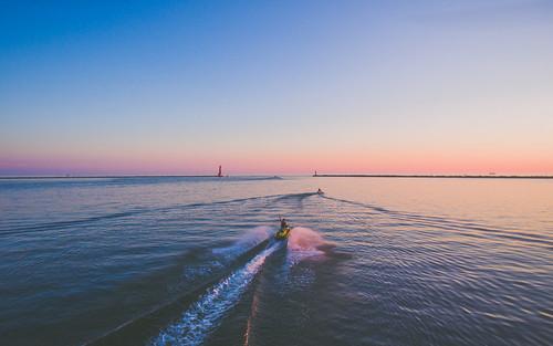 Lake Michigan sunset. Photographer Gregory Bozik