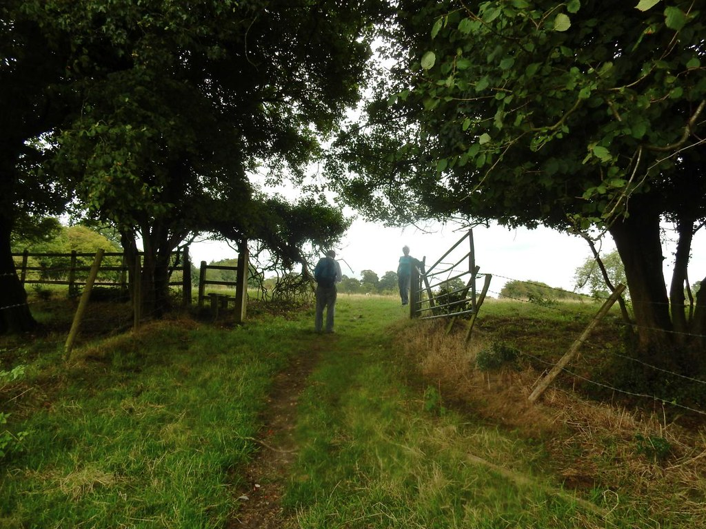 Through a gate. Tadworth via Headley Heath Circular