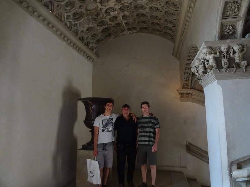 Con Oscar e Ivo en Pau