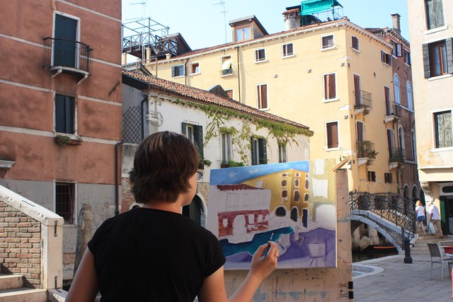 Painting in Venice Open Air