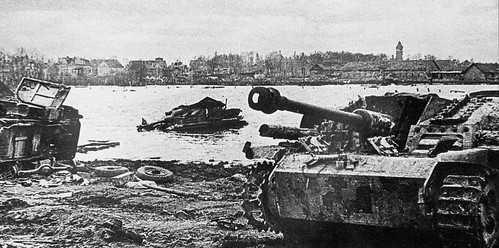 Knocked out German SAU StuG III's  at  Fishhausen now  Rimorsk in the Kaliningrad region 1945.