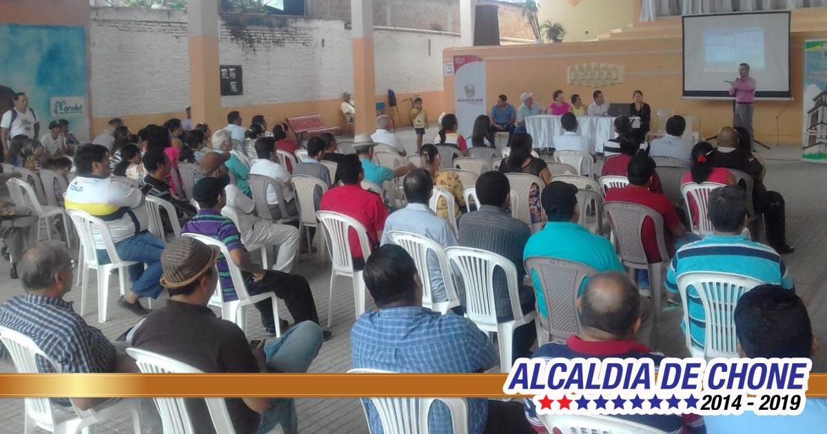 Socialización del sistema de agua potable en Canuto