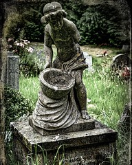 Stirring The Bowl....(Well, he would be if he had an arm to stir with) . . . . #cemetery #sculpture #boy #memorial #graveyard #churchyard #gravestones #graves #chrislord #chrislorddotnyc #pixielatedpixels #darkphotography #creativeimages #artphoto #gravey