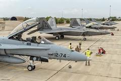 F-22 por primera vez en España