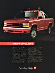 1991 Dodge Dakota Indy 500 Official Truck
