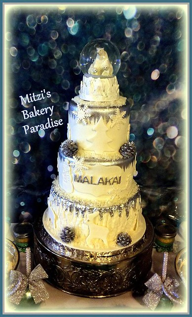 Winter Wonderland Cake by Mitzi Martin Malcolm of Mitzi's Bakery Paradise