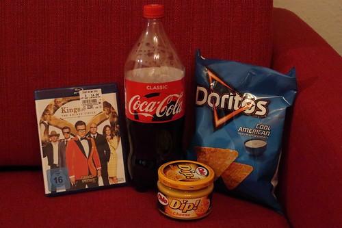 "Doritos Cool American mit Cheese Dip und Coca Cola zum Film ""Kingsman: The Golden Circle"""