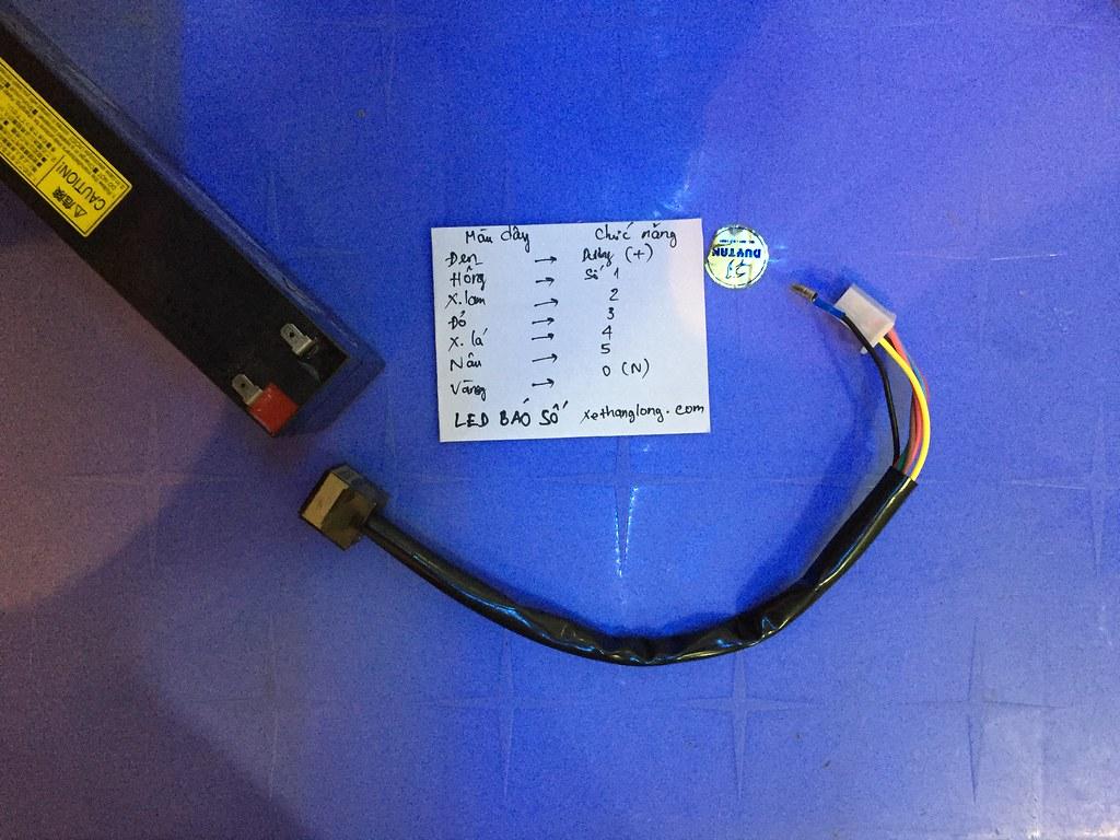 Hướng dẫn sử dụng LED báo số xe máy điện tử
