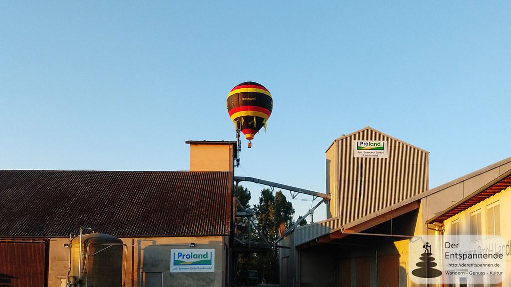 Ballon über Seemann Landhandel (Hahnheim)