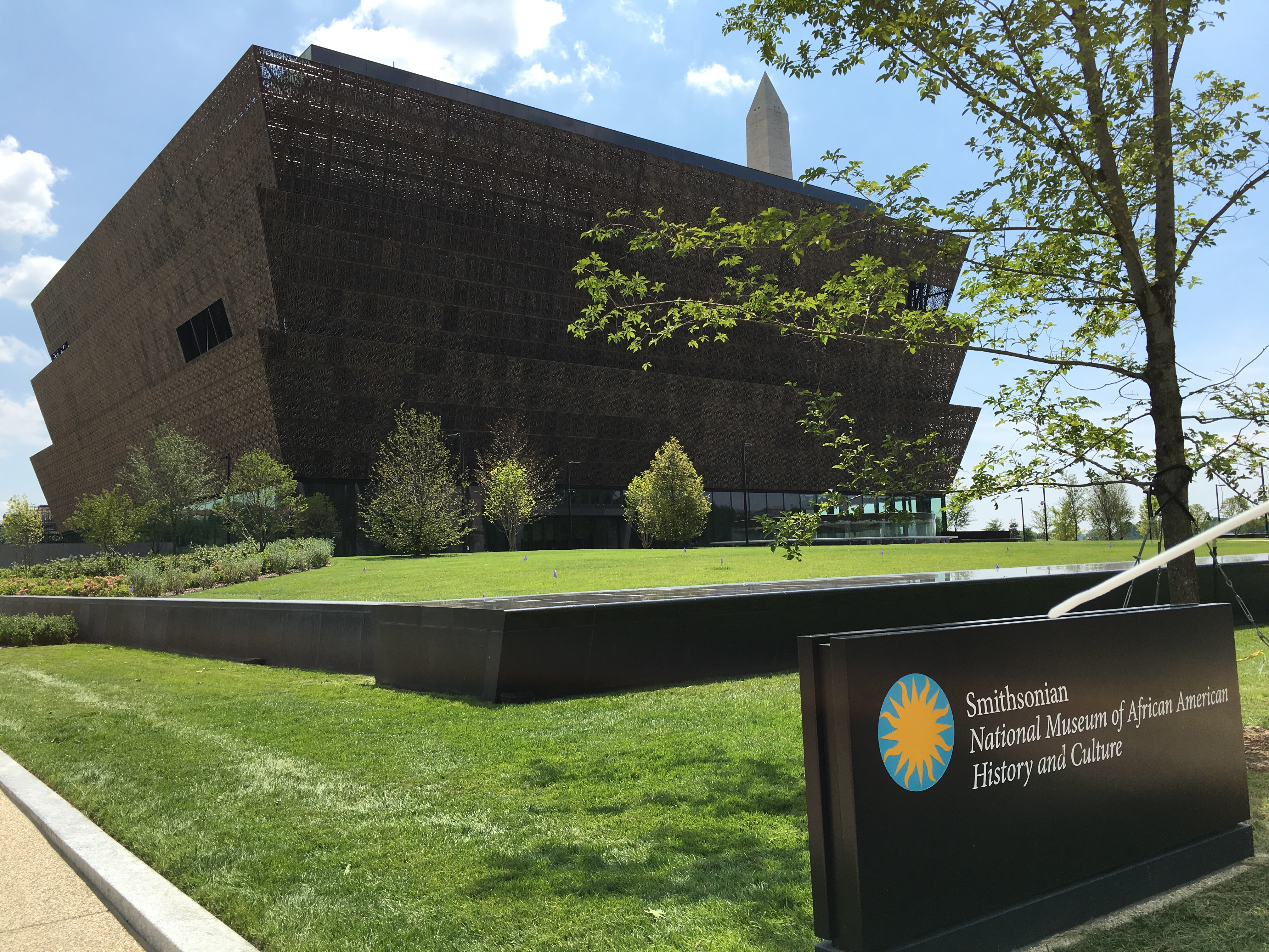 Exterior of the Smithsonian National Museum of African American History and Culture, Washington, D.C. Photo taken on July 20, 2016
