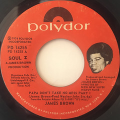 JAMES BROWN:PAPA DON'T TAKE NO MESS(LABEL SIDE-A)