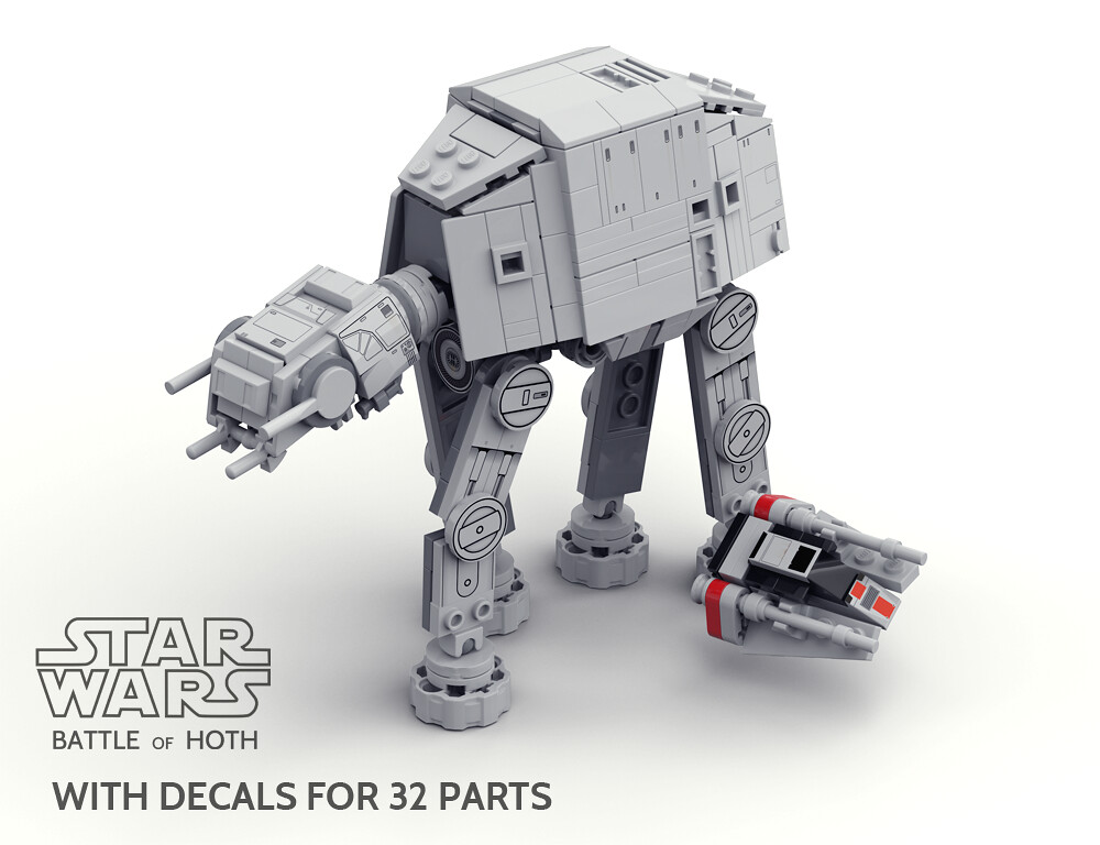 LEGO MOC SW Battle on Hoth mini diorama by gol ...