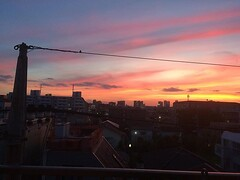 thanks for today❤︎ ・ ・ ・ #いまそら #東京 #sunset #tokyo #japan #nofilter