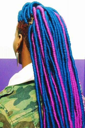 Bright And Colorful Faux Locs