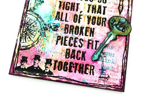 Meihsia Liu Simply Paper Crafts Mixed Media Tag Splatters and Sprinkles Simon Says Stamp Challenge Tim Holtz 4