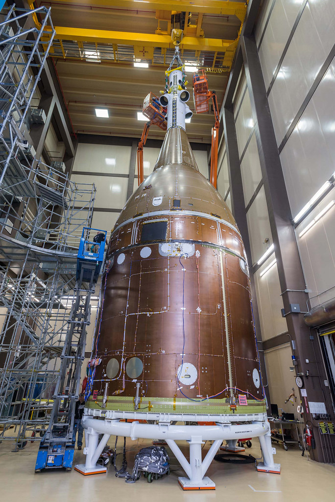 Orion STA full stack move inside RAL acoustic chamber