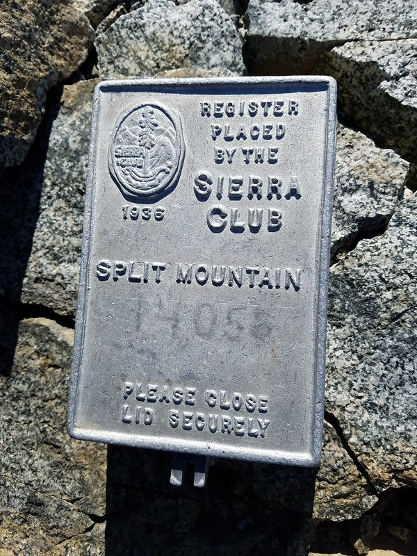 Split Mountain • Summit Register