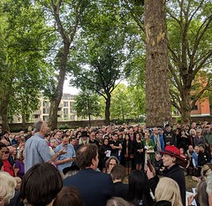 'Apocalypse'. Larger than expected gathering at the unveiling of William Blake's new headstone.