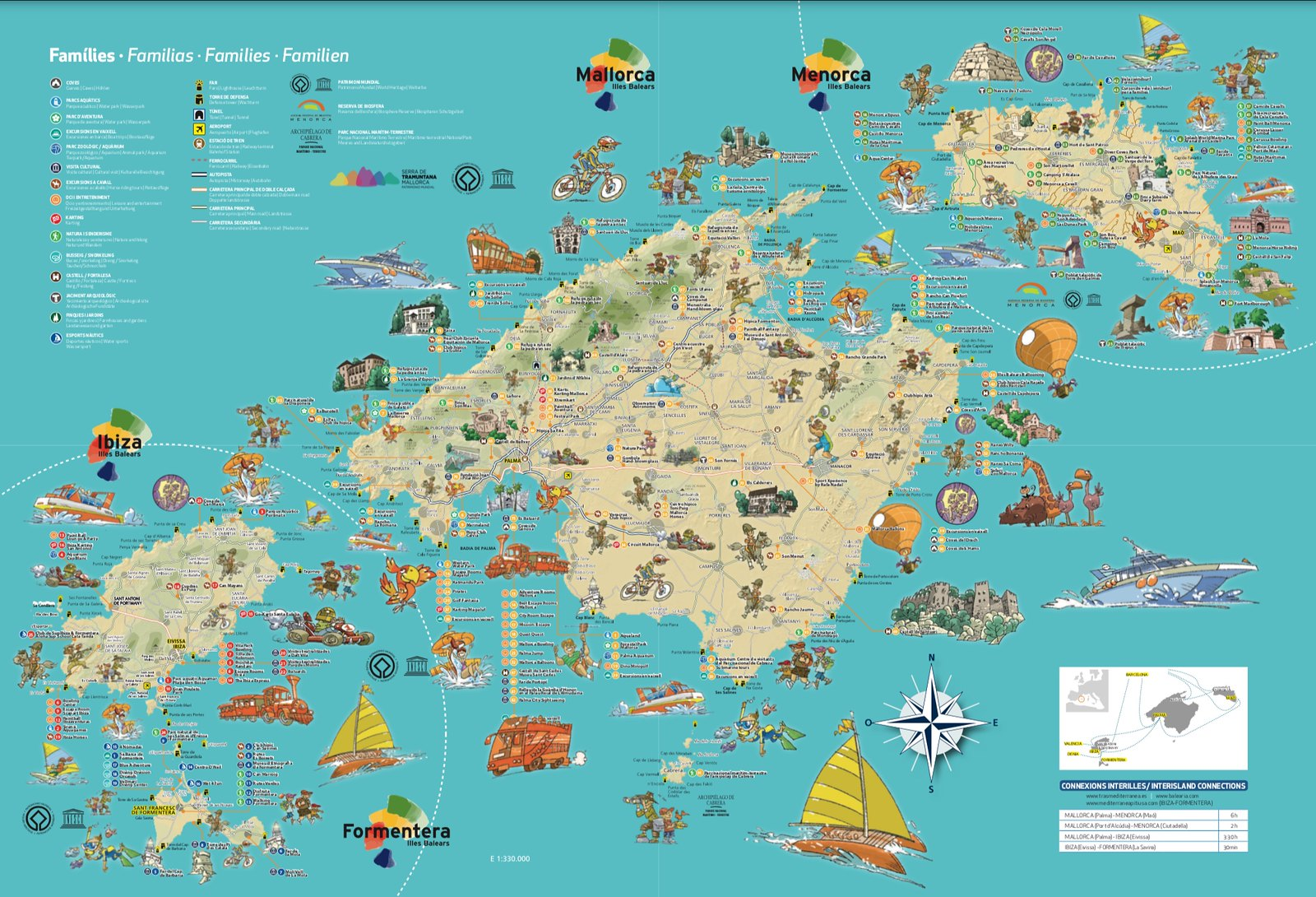 Mapa de turismo familiar