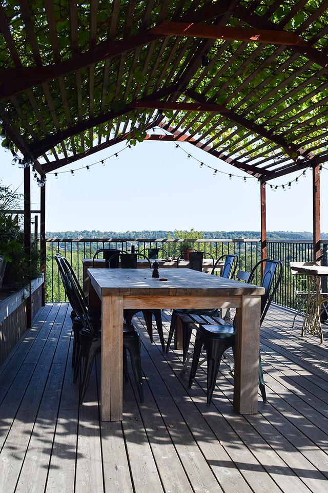 Long Outdoor Table at The Beacon, Tunbridge Wells