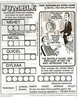 Buffalo Nickel Jumble