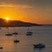 Sunrise over Porto Rafti bay, Greece