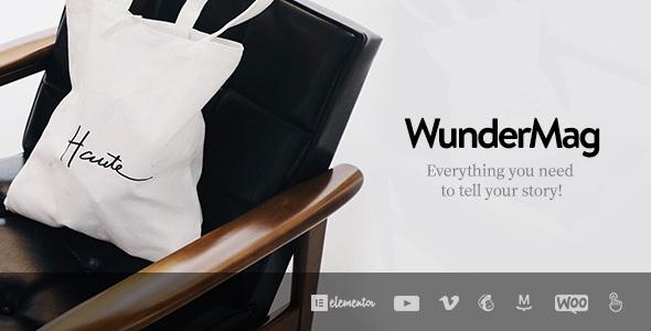 WunderMag v2.6.1 - A WordPress Blog / Magazine Theme