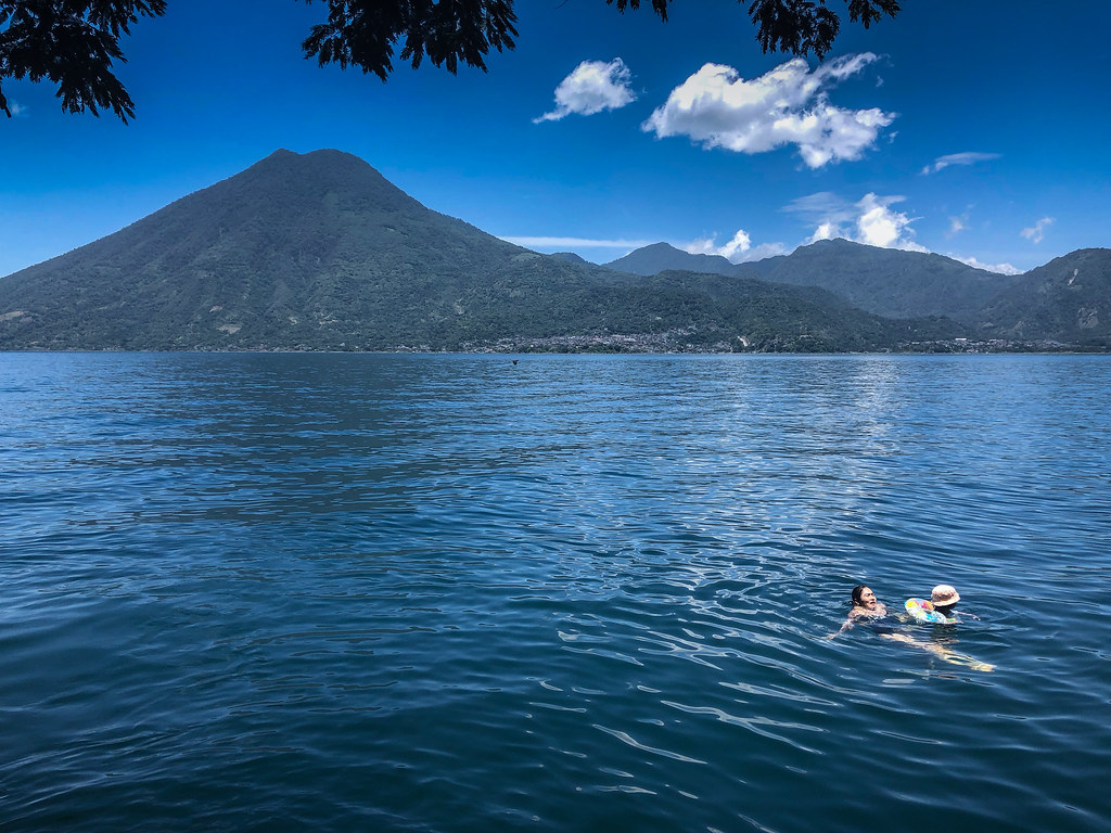 Swimming under a volcano