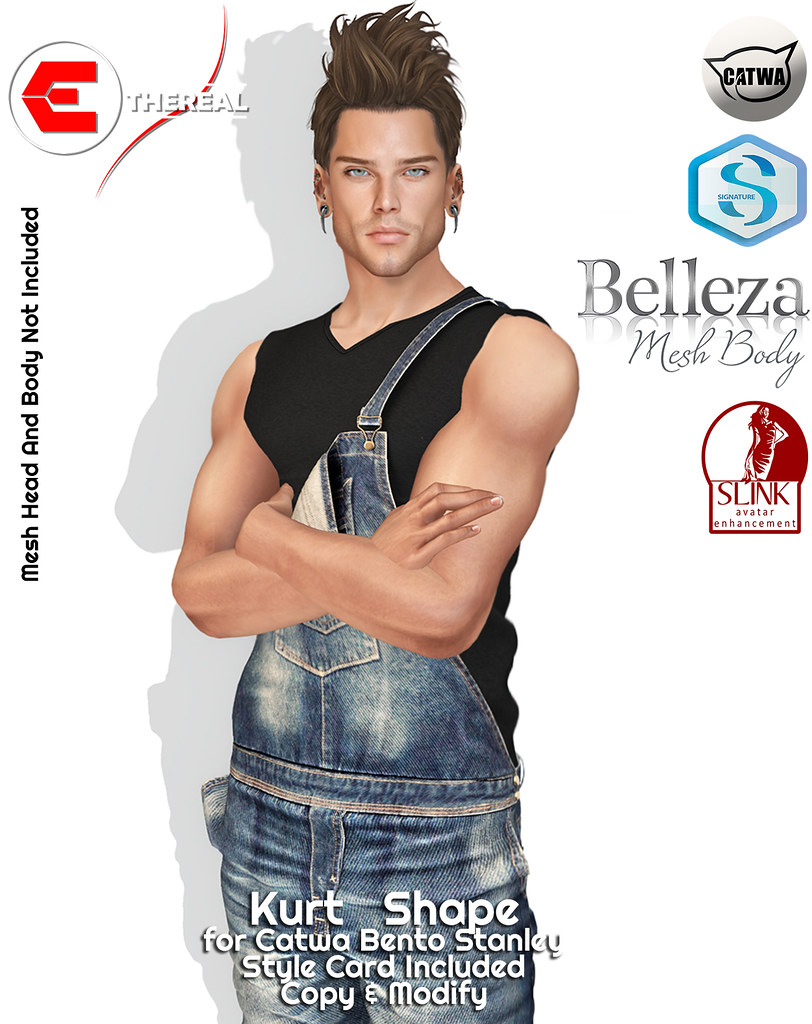 Kurt Shape - Bento Catwa Stanley - TeleportHub.com Live!