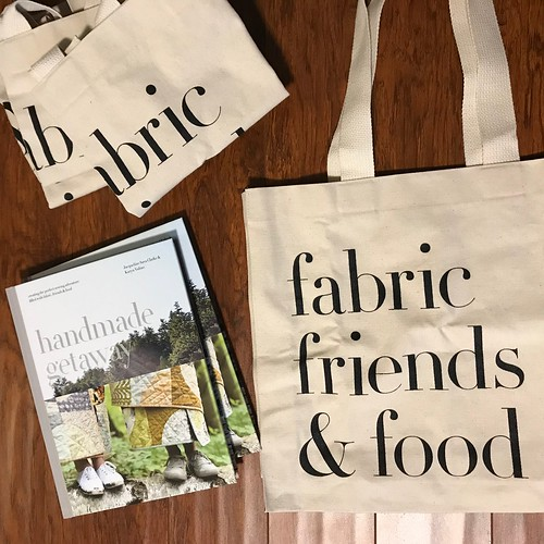 Handmade Getaway - the special first edition book by Karen Valina and Jacqueline Sava has arrived, their tote bags and a new shipment of Soak.