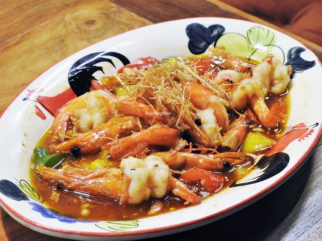 Stir-Fried Prawn In Lemongrass & Honey Sauce