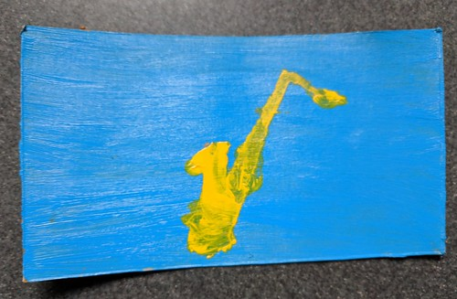 Gift of Saxophone Art from a Student
