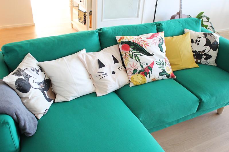 Green sofa / etdrysskanel.com