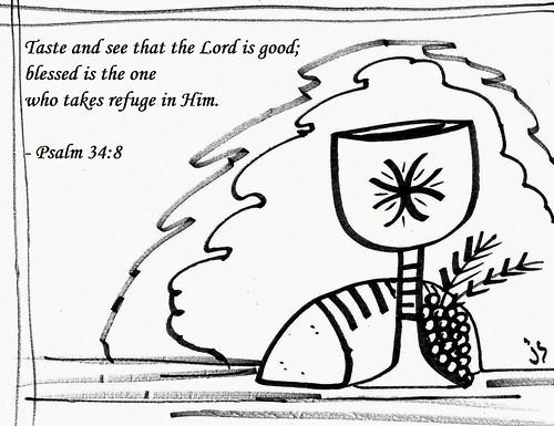 Psalm 34bw