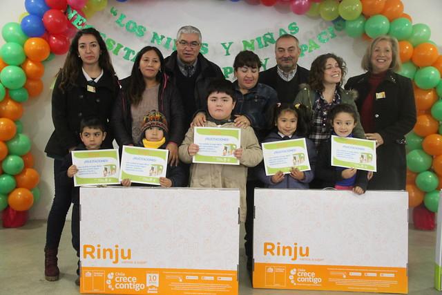 """Coltauco entregó 147 """"Rincones de Juegos"""" a niños de prekínder de los establecimientos municipales"""