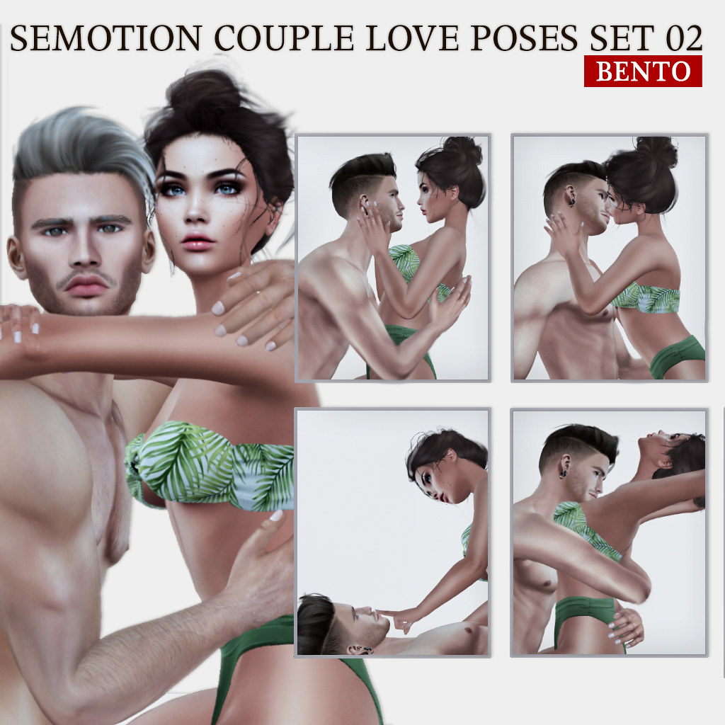SEmotion Couple Bento Love Poses Set 02 - TeleportHub.com Live!