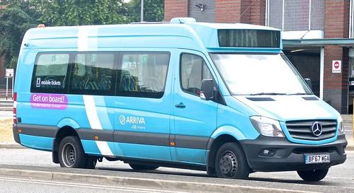 BF67 WGA 'ARRIVA Midlands' No. 1007 'Get on Board'. Mercedes-Benz City Sprinter 45 /3 on Dennis Basford's railsroadsrunways.blogspot.co.uk'