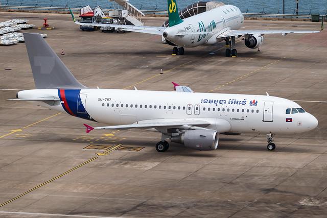Cambodia Airways A319-100 XU-787 001