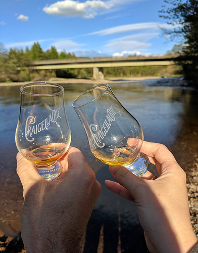 drams under the Craigellachie Bridge