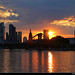 Sunset seen from Schaumainkai, Frankfurt, Germany by JH_1982