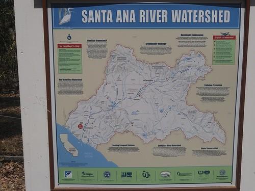 Santa Ana River Watershed interpretation sign