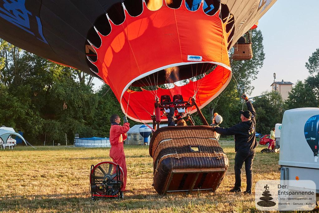 Befeuern/Wärmen des des Ballons