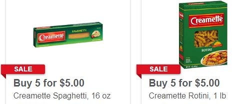 graphic regarding Meijer Printable Coupons identify 0.50 bundle upon creamette pasta at Meijer this 7 days wtih coupon codes
