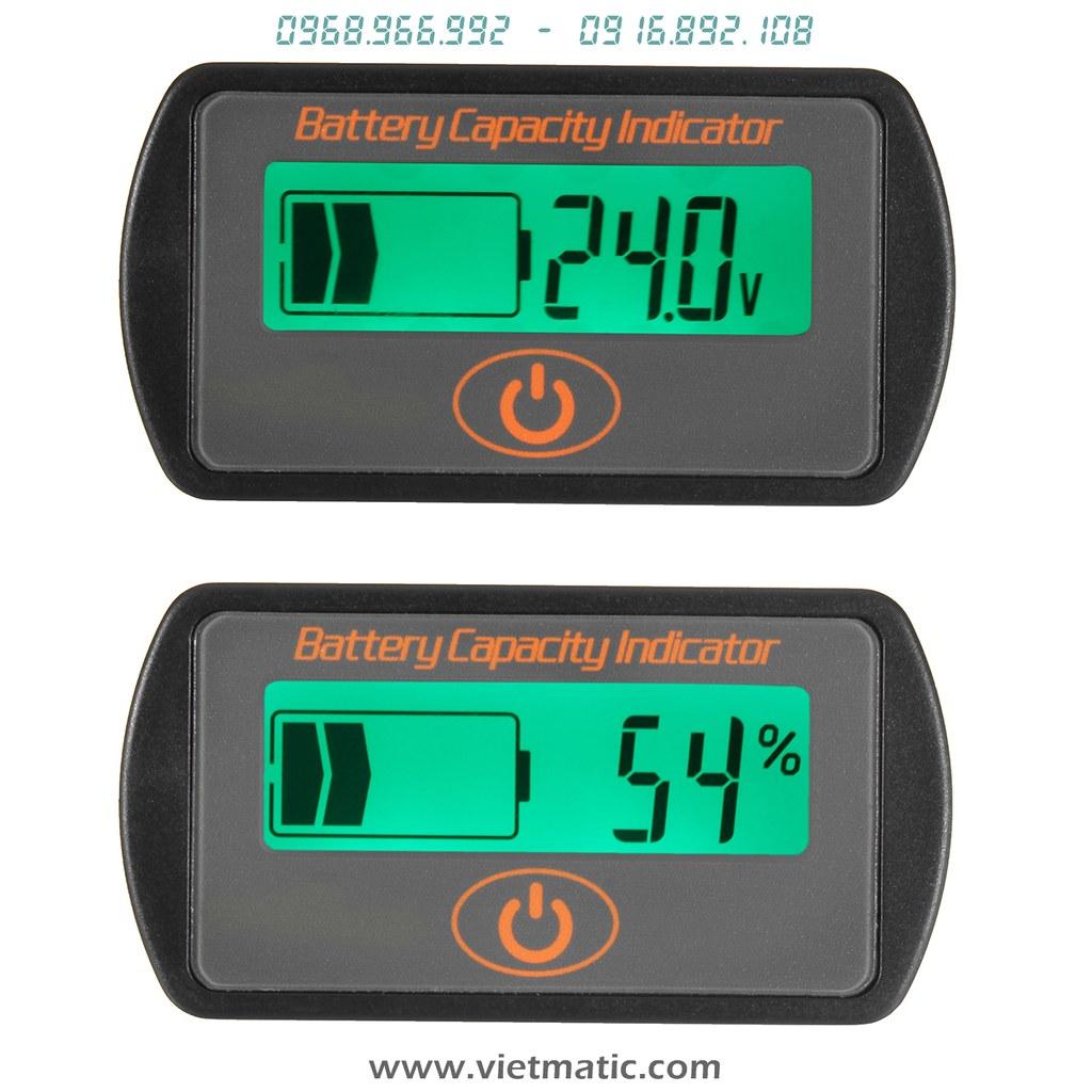 Báo mức dung lượng %, đo điện áp
