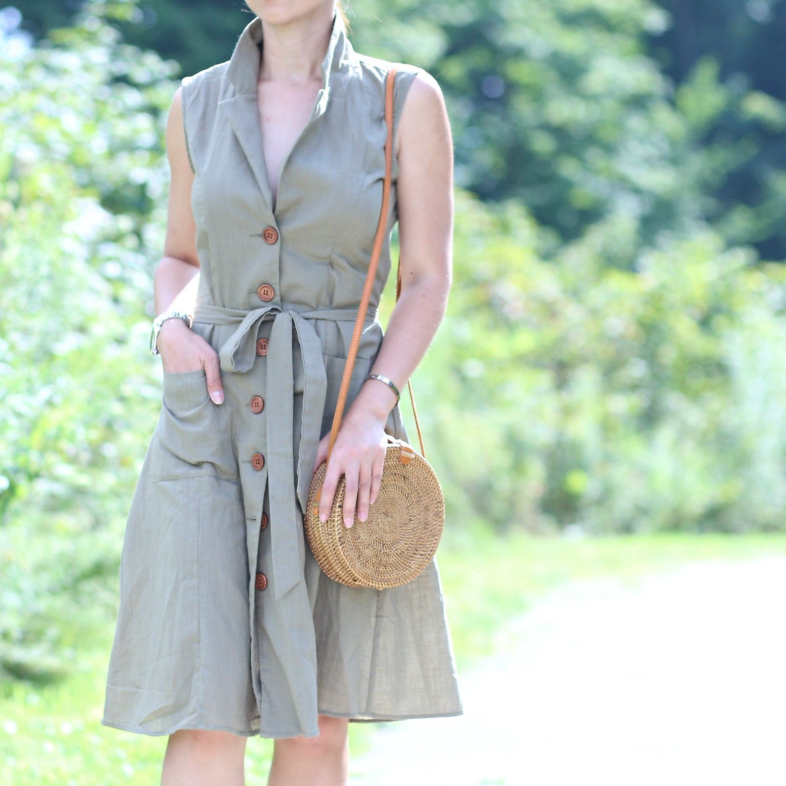OliveGreenShirtDress_SydneysFashionDiary