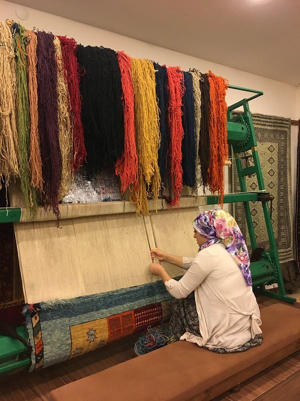 手工地毯製作