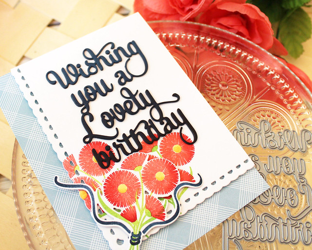 LizzieJones_PapertreyInk_August2018_SayItSimply_ScallopStackers_BouquetLovelyBirthdayCard2
